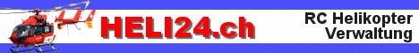 Banner des Verwaltungsportal www.heli24.ch  für Rc-Heli-Flieger